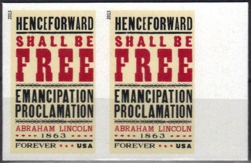 4721i Forever Emancipation Proclamation Imperf Plate Block of 4 #4721ipb