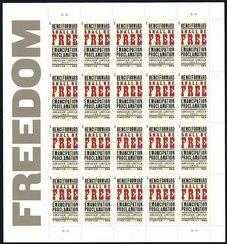 4721 (45c) Emancipation Proclamation Mint NH Sheet of 20 #4721s