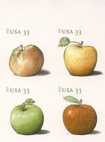 4727-30i 33c Apples Imperf Block of 4 #4730iblk