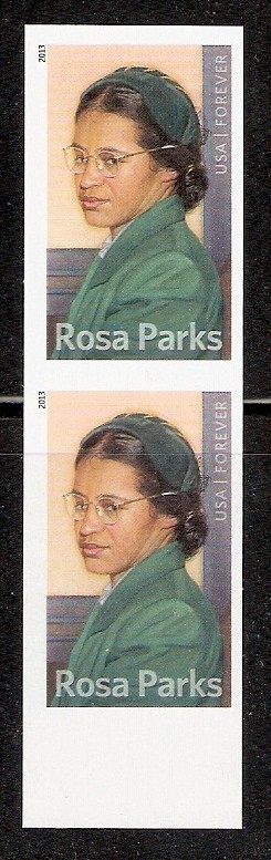 4742i (46c) Rosa Parks Imperf Pair F-VF Mint NH #4742iv