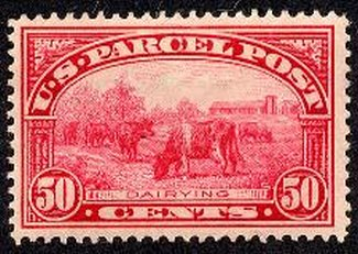 Q10 50c Parcel Post Dairying F-VF Mint NH #q10og