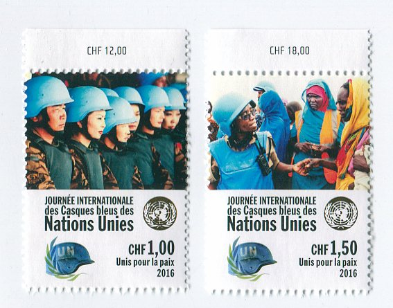 UNG 619-20 1.00,1.50 Fr Int Peace Keepers 2 Singles #ung619-20nh