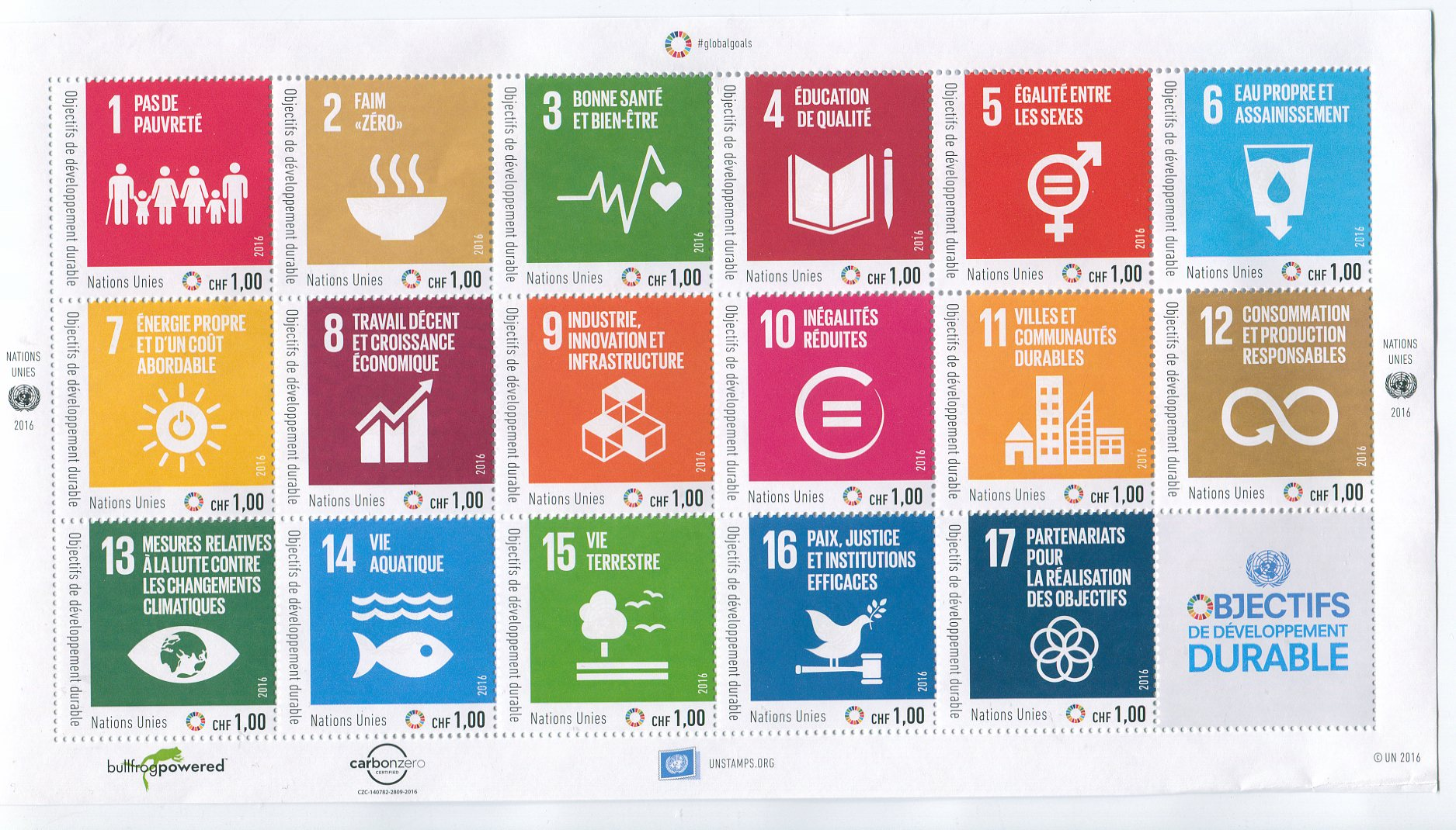 UNG 629 1.00 Fr Sustainable Goods Sheet of 17 #ung629sh