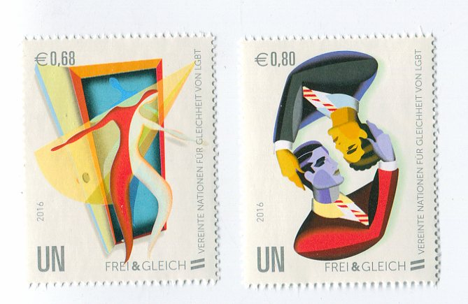 UNV 579-80 €68, .80 Free and Equal Mint Singles #unv579-80nh