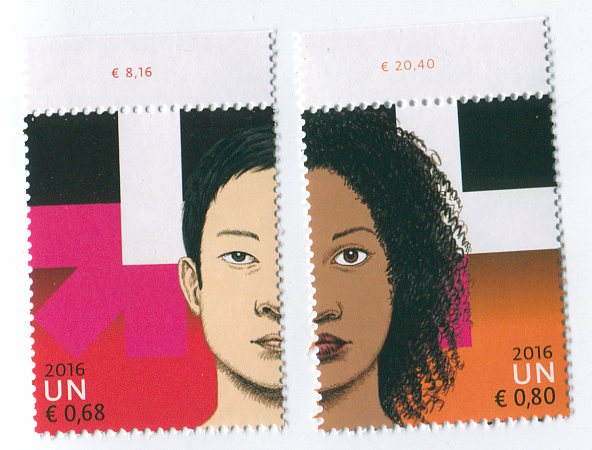 UNV 581-82 €68, .80 He for She Mint Singles #UNV581-2NH