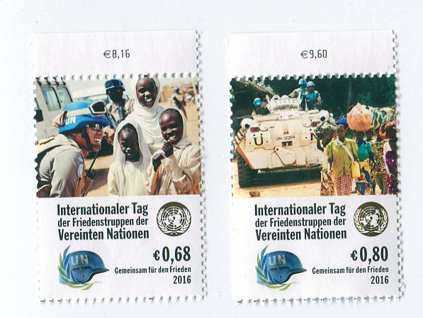 UNV 586-87 €68, .80 Int Peace Keepers Mint Singles #unv586-7nh