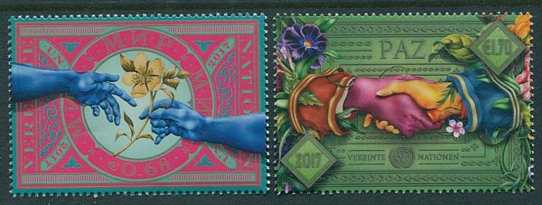 UNV 611-612 €68 Ç1.70 Day of Peace Set of 2 #unv611-2nh