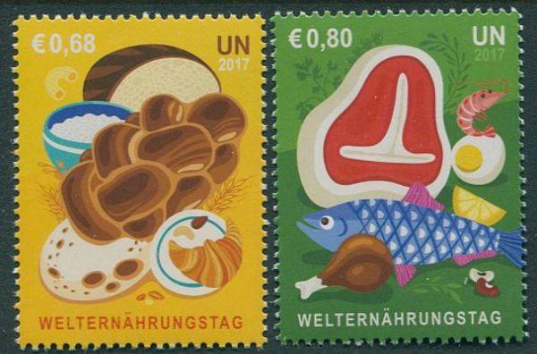 UNV 614-615 €68 €80 World Food Day Set of 2 Mint #unv614-5nh