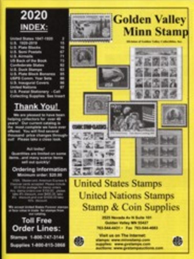 2020 Golden Valley Minnesota Stamps Catalog #2019CAT
