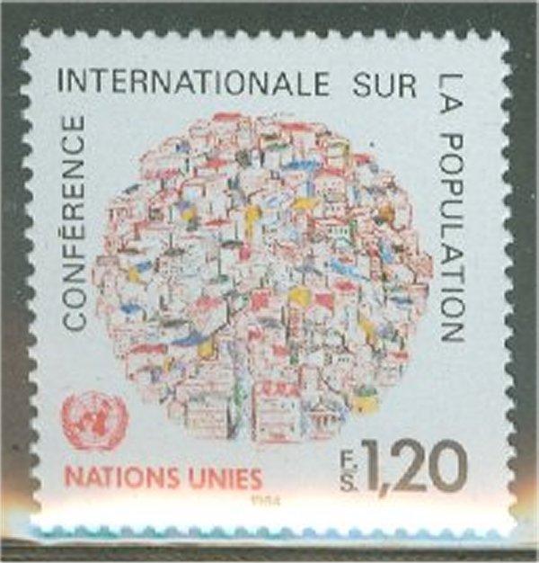 UNG 121    1.20 fr.Population Conf. UN Geneva Mint NH #12466