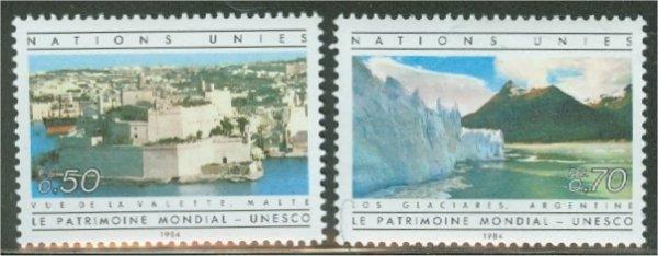 UNG 124-25  50c-70c UNESCO UN Geneva Mint NH #12468