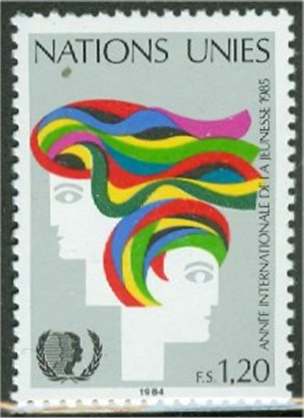 UNG 128    1.20 fr. Youth Year UN Geneva Mint NH #12470