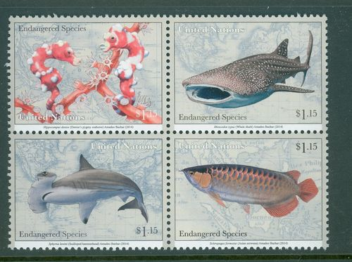 UNNY 1097-1100 $1.15 Endangered Species Block of 4 #1100nh