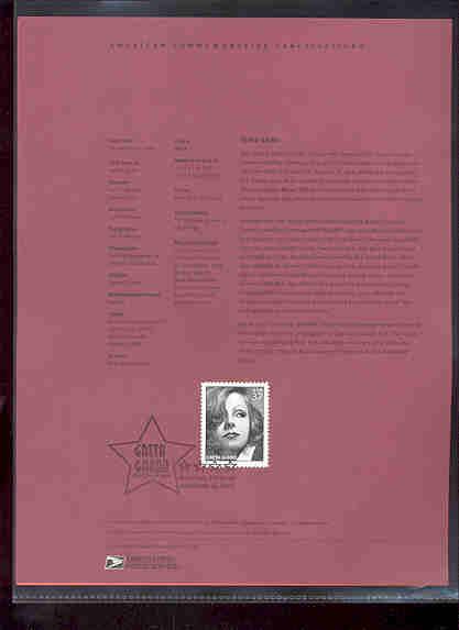 3943     37c Greta Garbo USPS Souvenir Page #23-May