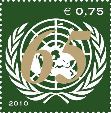 UNV 474 .75e United Nations 65th Anniversary Mint NH #unv474