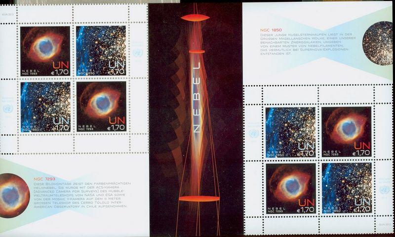 UNV 529-30sh 1.70 Space Nebula Sheetlet of 8 #unv529-30sh