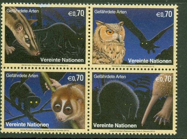 UNV 534-7 .70 Endangered Species Block of 4 Mint NH #unv534-7nh