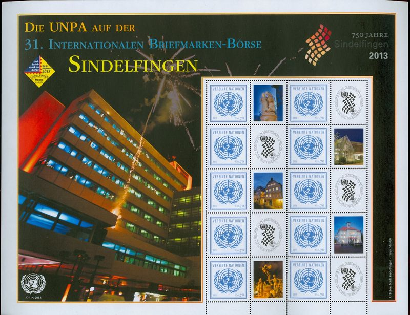 UNV 538a .70 Sindelfingen Mint NH Single with tab #unv538anh