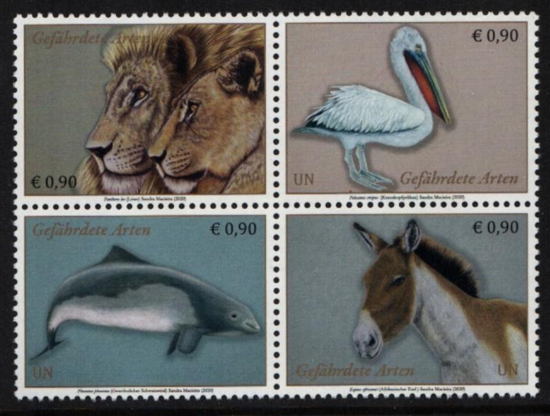 UNV 655-58 €.90 Endangered Species Mint NH Block of 4 #unv655-58