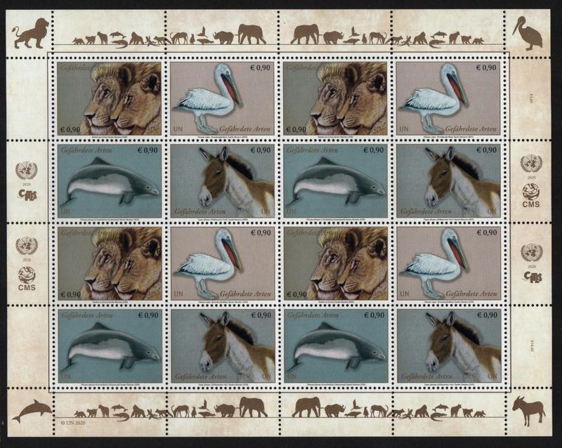 UNV 655-58  €.90 Endangered Species Mint NH Sheet of 16 #unv655-58sh