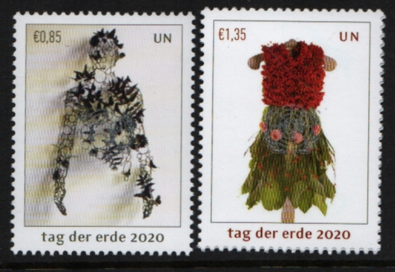 UNV 660-61 €.85 €1.35 Mother Earth Day Set of 2 Mint Singles #unv660-61