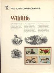 1464-67 8c Wildlife USPS Cat. 1 Commemorative Panel cp001