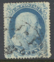 18 1c Washington Type I perf 15.5 Used Minor Defects 18usedavg