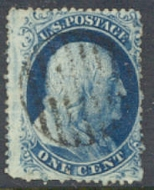 23 1c Washington Blue Type IV Used Minor Defects 22usedmd