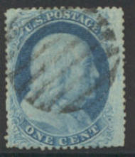 24 1c Franklin, Type V, Perf 15,  Used F-VF 24used