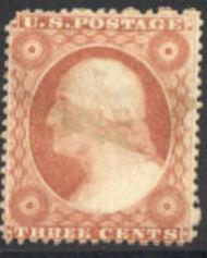 25 3c Washington, Type I, Perf 15, AVG Used 0025u2