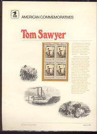 1470 8c Tom Sawyer USPS Cat. 4 Commemorative Panel cp004