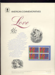 1475 8c Love USPS Cat. 9 Commemorative Panel cp009