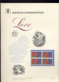 1475 8c Love USPS Cat. 9 Commemorative Panel cp009
