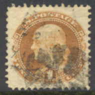 112 1c Franklin, buff, AVG Used 0112u2