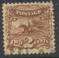 113 2c Horse & Rider, brown, Average Used 0113u2