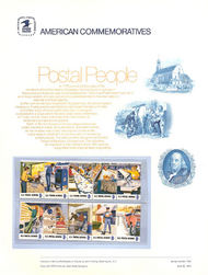 1489-98 8c Postal People USPS Cat. 14 USPS Commemorative Pane cp014