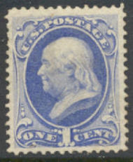 145 1c Franklin, without grill, Unused OG Minor Defects 145ogmd