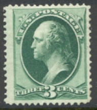 147 3c Washington, green, without grill, F-VF Unused OG 147og