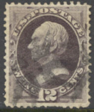 151 12c Clay, dull violet, without grill, AVG Used 151usedavg