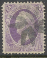 153 24c Scott, purple, without grill, Used   F-VF 153used