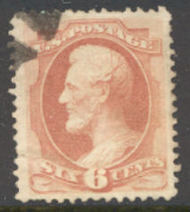 159 6c Lincoln, dull pink, Used  F-VF 159used