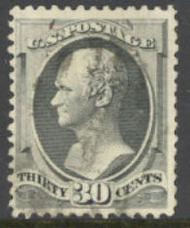 165 30c Hamilton, gray black, Used  F-VF 165used
