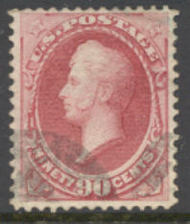 166 90c Perry, rose carmine, Continental Printing, Used AVG-F 166usedavg