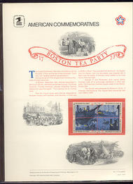 1480-83 8c Boston Tea Party USPS Cat. 17 Commemorative Panel cp017