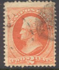 178 2c Jackson, vermilion, Continental Printing, Used  F-VF 178used