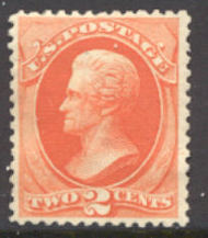178 2c Jackson, vermilion, Continental Printing, Unused No Gum Minor Defects 178ogmd