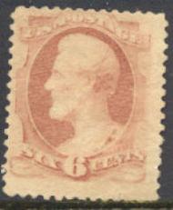 186 6c Lincoln, Pink, Unused OG  F-VF  186og