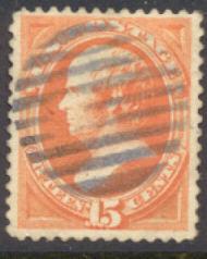 189 15c Webster, red orange, Used  F-VF 189used