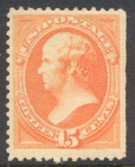 189 15c Webster, red orange, Unused No Gum AVG-F 189ngavg