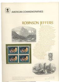 1485 8c Robinson Jeffers USPS Cat. 19 Commemorative Panel cp019